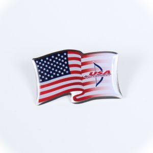 USA Archery Flag Trading Pin