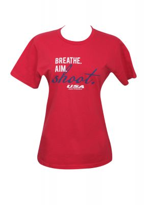 Ladies Breathe Aim Shoot Tee