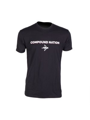 USA Archery Compound Nation T Shirt Black - Men's