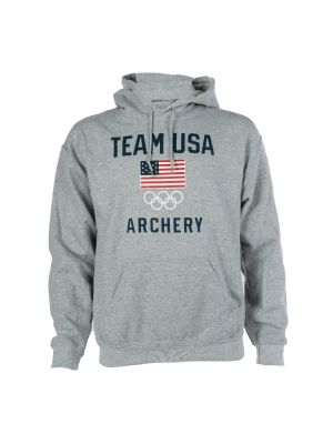 Men's Team Flag Training Sweatshirt Archery  Heather Grey