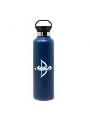 USA Archery 25 oz. Water Bottle - Stainless Steel with Copper Vacuum Insulation Blue